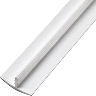 3/4 x 12' Plastic T-Molding, White