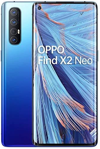 "OPPO Find X2 NEO 5G – Pantalla de 6.5"" (AMOLED, 12GB/256GB, Snapdragon 765G, 4.000 mAh, cámara trasera 48MP+13MP+8MP+2MP, cámara frontal 32MP, Android 10) Azul [Versión ES/PT]"
