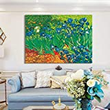 KWzEQ Paisaje Abstracto Pintura al óleo póster Mural sobre Lienzo decoración Famosa Sala de Estar,Pintura sin Marco,75x100cm