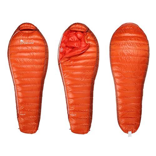 MOUNTAINTOP 600 g/800 g Daunenschlafsack (800 g-orange-rot)
