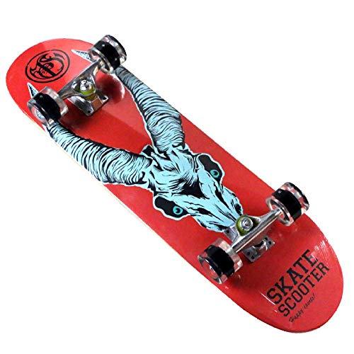 LJ Home Skateboard Komplettes PRO Skateboard Double Kick Concave Design 8-lagiges Skateboard Aus Kanadischem Ahornholz Für Erwachsene