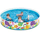 6ft Kiddie Pool - Swimming Pool for Kids - Toddler and Baby Pool - Snapset Pools for Home Courtyard Summer Swimming Party
