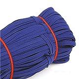 Geflochtenes elastisch Band, 33 Meter Länge, 0,6 cm Breite, elastisches schwerem Stretch, hohe Elastizität, Strick, elastisches Band für Nähen, Handwerk, Heim, Tagesdecke, Manschette königsblau