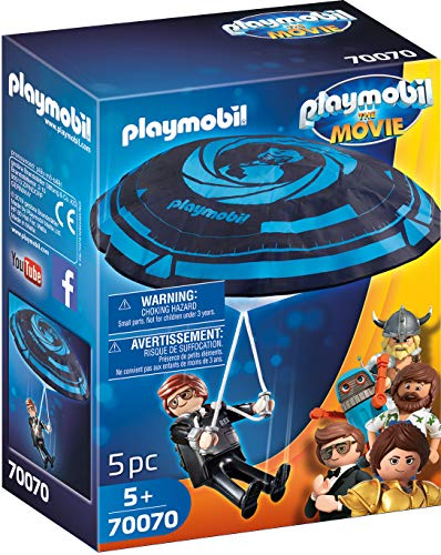 PLAYMOBIL:THE MOVIE 70070 Rex Dasher mit Fallschirm, Ab 5 Jahren