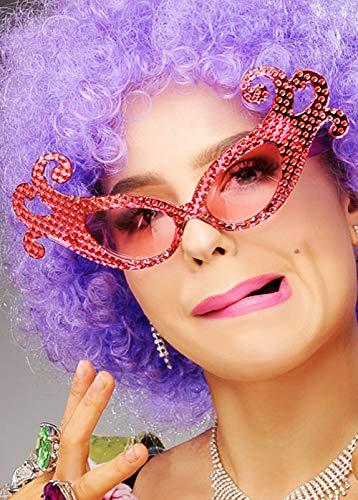 MAGICBOX Occhiali da Vista in Stile Pink Edley con Scintilla