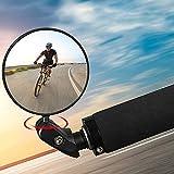 JahyElec Espejo retrovisor para bicicleta, 2 unidades, giratorio 360°, lente gran angular, para manillar de 17,4 – 22 mm, universal, para bicicleta de montaña, bicicleta de carretera