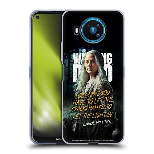 Head Case Designs Offiziell Zugelassen AMC The Walking Dead Carol Staffel 9 Zitate Soft Gel Handyhülle Hülle Huelle kompatibel mit Nokia 8.3 5G