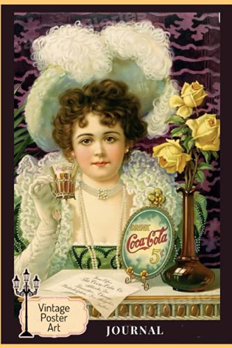 JOURNAL: Cover inspired by1890s Victorian Coca Cola vintage style advertising - Alternate...
