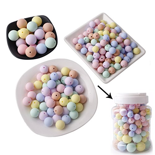 Mamimami Home Silicone Beads (12-20mm Round)200PC Baby Teething Chew Beads DIY Beads Teething Necklace