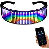 LED Glasses, [2020 New Version] Customizable LED Glasses Bluetooth Light up Glasses with for Raves, Birthday, Bar, Light up Glasses Party - DIY Messages, Animation, Music(Easy Control from APP)