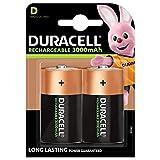 Duracell Recharge Ultra D Mono Akku Batterien LR20 3000 mAh, 2er Pack
