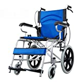 Y-L Selbstfahrende Rollstühle Rollstuhl Reisestuhl Klapproller Behindertengerechte Tragbare Rollstühle Ultraleichtflugzeuge für Den Außenbereich Alter Reisewagen Ladegewicht 100 Kg -