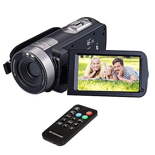 Videocamere per fotocamera HuiHeng Full HD Digital Mini Handheld videocamera digitale con visione notturna a infrarossi 24.0 Mega pixel DV 3 'schermo LCD zoom 18x