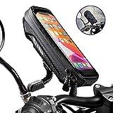 WACCET [Nouvelle génération] Support Telephone Moto Imperméable Support Smartphone Moto Etanche avec Rotation 360°, Support Téléphone Scooter avec Housse de Pluie pour Smartphone jusqu'à 6.5'