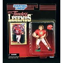 LEN DAWSON / KANSAS CITY CHIEFS * 1997 TIMELESS LEGENDS Kenner NFL Starting Lineup & Exclusive Collector Trading Card
