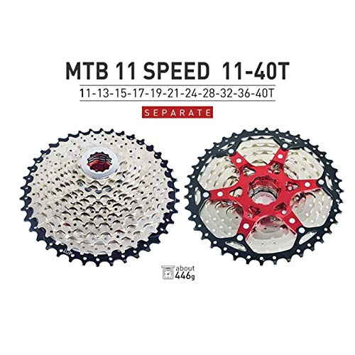 Lijincheng Ruedas Libres MTB Bicicleta Freewheel 9 10 11 12 SPEET SPARTE Ultralight Aleación De Aluminio Cassette Bikes Soporte De Soporte De Rueda Libre (Color : 11S 11 40T)