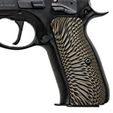 Cool Hand G10 Grips for CZ 75 Full Size, Sunburst Texture, Brand, Coyote Color