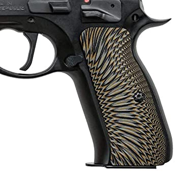 Cool Hand G10 Grips for CZ 75 Full Size Sunburst Texture Brand Coyote Color