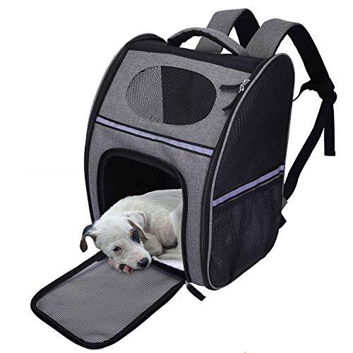 Lampop Tragetasche für Hundekatzen Rucksack Flexibler atmungsaktiver Träger für
