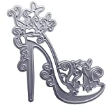 RIsxffp Bellissime scarpe con tacchi che tagliano album di ritagli, decorazione fai da te, stencil in carta argentata