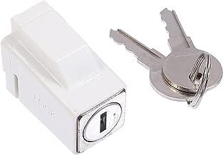 Angoily Schuifraamsloten met sleutels verstelbare zinklegering deurframe beveiligingsslot stop veiligheid raamsloten voor ...