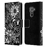 Offizielle Bianca Green Blumenstrauß Gemischte Designs Leder Brieftaschen Handyhülle Hülle Huelle kompatibel mit BlackBerry DTEK60