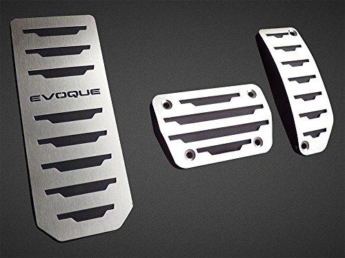 Pedali Con Poggiapiede In Acciaio per 2011-2018 Evoque (Cambio Automatic) - 3 Pezzi Pedana Pedaliera Poggapiedi Pedaliere Sportiva Gas Copripedale Freno Tuning