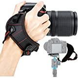 JJC DSLR Camera Wrist Hand Strap Grip with Quick Release Tripod Plate for Canon EOS 90D 80D 77D 70D 60D 50D 1D 1Dx 7D 6D 5D Mark IV III II 5Ds 5DsR EOS R RP R5 R6 Rebel T8i T7i T6s T6i T7 T6 SL3 SL2