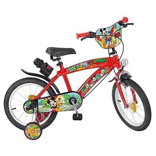 Bicicletta Topolino Disney 16' età 5/8 Anni con ROTELLE - 620