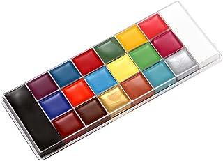 Beaupretty 1 Partido Caixa de Rosto Corpo Pintura Maquiagem Óleo Tinta A Óleo Pigmento 20 Cores