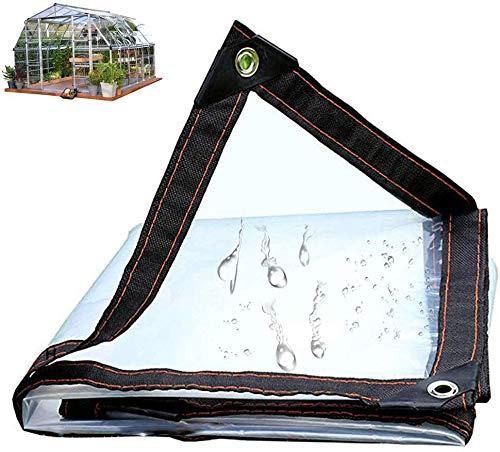 GYY Lonas Transparentes, con Ojales, fácil de Plegar, Transparente, Resistente a la Intemperie, Cubierta de Lona, Exterior, jardín, Patio, Cortina, Protector Solar,2mX2m