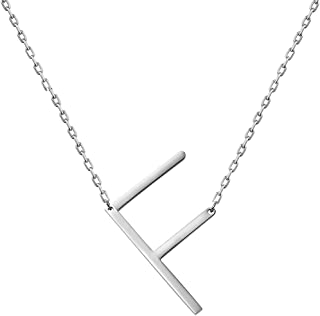 WIGERLON Stainless Steel Initial Letters Necklace for Women and Girls Color Gold and Silver from A-Z