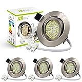 4er Ultra Flach LED Einbaustrahler 230V Einbauspots...