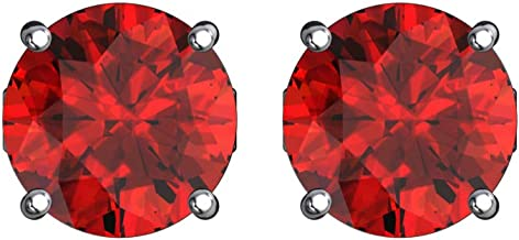 Belinda Jewelz Womens 5 mm Round Solitaire CZ Gemstone Birthstone Stud Earrings