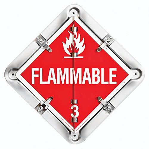 Labelmaster 81-8FO 8 Legend Hazmat Flip Placard System for Trailers, Full Frame