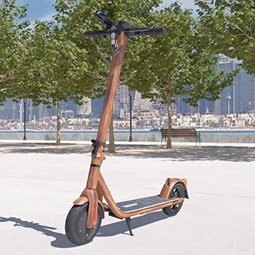 Viron E-Scooter mit Straßenzulassung Elektro Scooter ABE Aluminium Elektroroller Faltbar Roller EScooter eKFV Zulassung Führerscheinfrei (Holz-Optik)