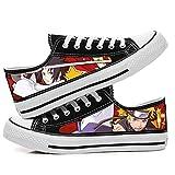 Csqw Naruto Low Gang Zapatillas de Lona para Zapatillas de Deporte Unisex para niños y Adolescentes Zapatillas de cosplay-39