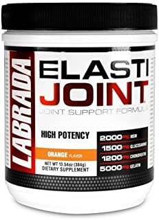 Labrada Elastijoint - Joint Support Powder, All In One Drink Mix with Glucosamine Chondroitin, MSM and Collagen, Orange, 3...