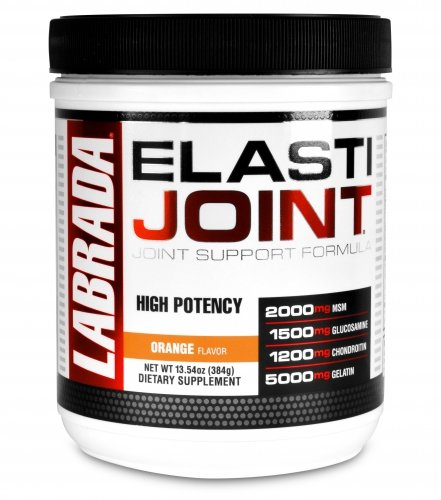 Labrada Elastijoint - Joint Support Powder, All In One Drink Mix with Glucosamine Chondroitin, MSM and Collagen, Orange, 30 Servings