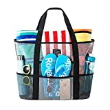 SoHo, Mesh Beach Bag - Toy Tote Bag - Large Lightweight Market, Grocery & Picnic Tote with Oversized Pockets...
