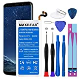 Galaxy S8 Battery, MAXBEAR [3300mAh] Lithium Polymern Internal Battery Replacement for Samsung Galaxy S8 SM-G950 EB-BG950ABE with Repair Tool Kit.[12 Month Warranty]