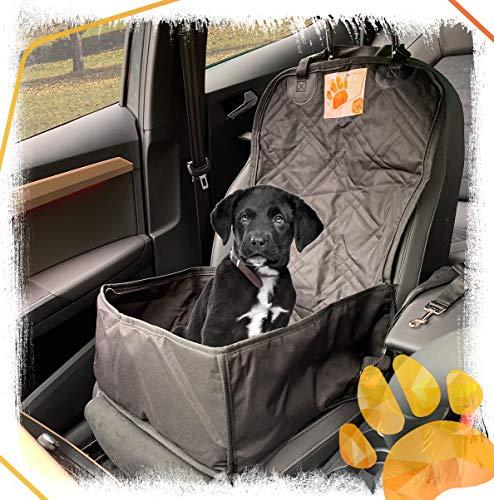 Autositzbezug für kleine bis mittlere Hunde als Hundekorb oder Schondecke für Vordersitz und Rückbank, abwaschbar, wasserdicht und extrem langlebig. Schonbezug Hund als Hundedecke, Autositz, Sitzbezug