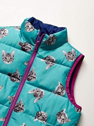 Spotted Zebra Girls Toddler /& Kids Reversible Plush Vest Brand