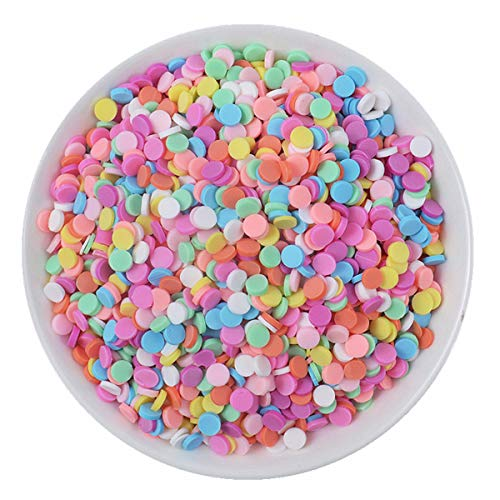 100g Resin Flatbacks Charms Accessories Clay Sprinkles Decoration for Charms Filler DIY Supplies Fake Candy Chocolate Cake Dessert Mud Particles Toy Scrapbook Phone Case (round6)