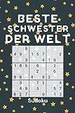 BESTE SCHWESTER DER WELT - Sudoku: 240 Sudoku-Rätsel inkl. Lösungen | Leicht-schwer | - kleine Geschenke für Schwester zu weihnachten Geburtstag - weihnachtsgeschenke für Schwiegertochter frauen