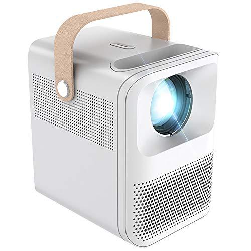 Proyector Portátil, Proyector De Películas Compatible con 1080P, Proyector Doméstico con Pantalla De 120', Mini Proyector De Vídeo Home Theater De 850 ANSI Lumen, Batería Incorporada