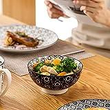 Vancasso, Haruka Kombiservice aus Porzellan, 40 TLG. Rund Geschirr Set, mit Kaffeebecher, Müslischale, Dessertteller, Flachteller und Tiefteller, Tafelservice für 8 Personen - 6