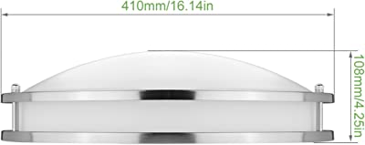 Satin White Glass 3000K Color Temp 280 Rated Lumens Maxim Lighting 4W Max. Shade Material MB Incandescent Incandescent Bulb Maxim 22172SWPC Elan 3-Light Semi-Flush Mount Polished Chrome Finish Wet Safety Rating