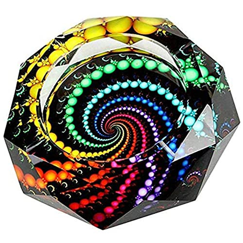 Cigarette Ashtray Ash Holder Case-Creative Crystal Cigarette Ashtray for Indoor or Outdoor Use Ash Holder for Smokers Desktop Smoking Ash Tray for Home Office Decoration (Multicolor)