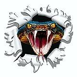 carstyling XXL Aufkleber Einschussloch 90 mm Motiv Cobra ~ schneller Versand innerhalb 24 Stunden ~